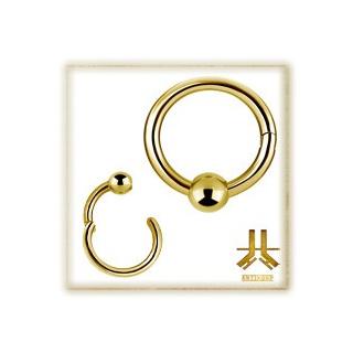 Anneau BCR Clicker PVD Gold