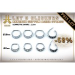 Lot 8 Clickers 1.2mm Septum Strass