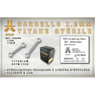 Barbell Titane Stérile 1.2mm