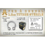 Fer à Cheval Titane Stérile 1,2mm