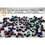 Lot Billes Black Big Strass 3mm 45pcs