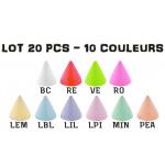 Lot 20 cônes émaillés 1.2x3mm