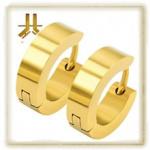 Boucles d'oreille Acier Gold (paire)