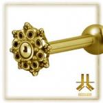 Microbarbell Fleur Gold Vissage Interne