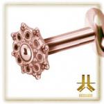 Labret Fleur Rose Gold Vissage Interne