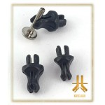 Clip Acrylique Noir pour présentoir (x10)