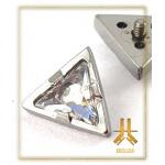 Embout Titane F136 Triangle Swarovski interne