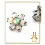 Fleur Titane 7 Opales Blanches