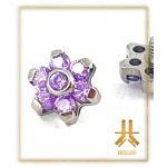 Fleur Titane 7 Strass Swarovski Violet