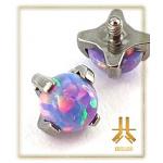 Tête Titane F136 4 griffes Opale Violette embase plate
