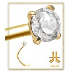 Nez Or 18K Diamant Grade SI 1
