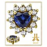 Tête Or 18K Heart Crown Strass Swarovski