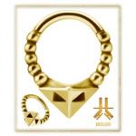 Anneau Clicker Pyramidion PVD Gold