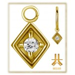 Pendant Charms 1.2mm - PVD Gold n16