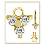 Pendant Charms 1.2mm - PVD Gold n17