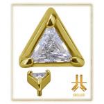 Tête Or 18K Triangle Swarovski