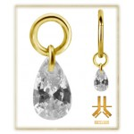 Pendant Charms 1.2mm - PVD Gold n26
