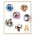 Cabochon Ouvert Strass 3mm Titane F136 interne