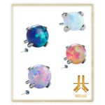 Griffe Titane F136 Threadless Opale 3mm