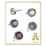 Cabochon Strass Titane F136 Threadless 3mm