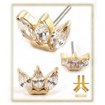 Marquise Or 14K Strass