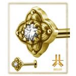 Labret n19 Swarovski PVD Gold Vissage Interne