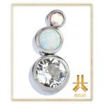 Cluster Titane Strass Opale n32