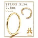 Clicker 0.8mm Gold Anneau Clipable