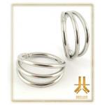 Anneau Clicker Titane F136 Triple Rings