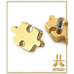 Embout Titane F136 Puzzle A PVD Gold