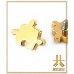 Embout Titane F136 Puzzle B PVD Gold