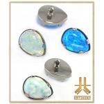 Tête F136 Griffée Opale Teardrop interne