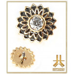 Embout Vintage Flower Or 14K Strass Vissage Interne