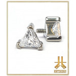 Embout Titane F136 Triangle Griffé Strass