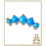 Cartilage Pierres Turquoises Griffés Titane