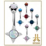 Nombril Acier Opale Antic01 Double Jeweled