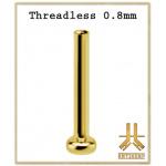 Labret 0.8mm Titane F136 Threadless PVD Gold