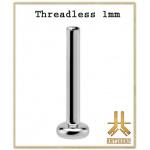 Labret 1mm Titane F136 Threadless
