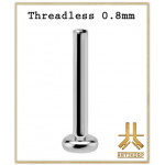 Labret 0.8mm Titane F136 Threadless
