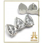 Embout Titane F136 Triple Pear Strass