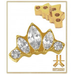 Embout Titane F136 PVD Gold Crown Marquise