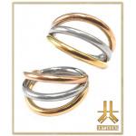 Anneau Clicker Titane F136 Triple Rings Mix Gold/Rose Gold