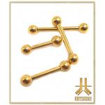 Microbarbell Titane F136 PVD Gold Interne