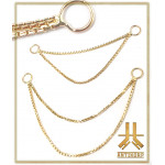 Double Chaine Or 14k maillage n04