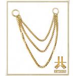 Triple Chaine Or 14k maillage n05