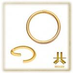 Anneau Continu Flexible Nez PVD Gold