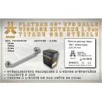 Flatbar Titane Stérile 45° Vissage Externe 1,6mm