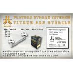 Flatbar Titane Stérile - Disques Strass