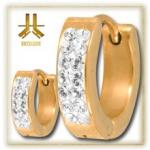 Boucle d'oreille Gold Strass Blancs (paire)